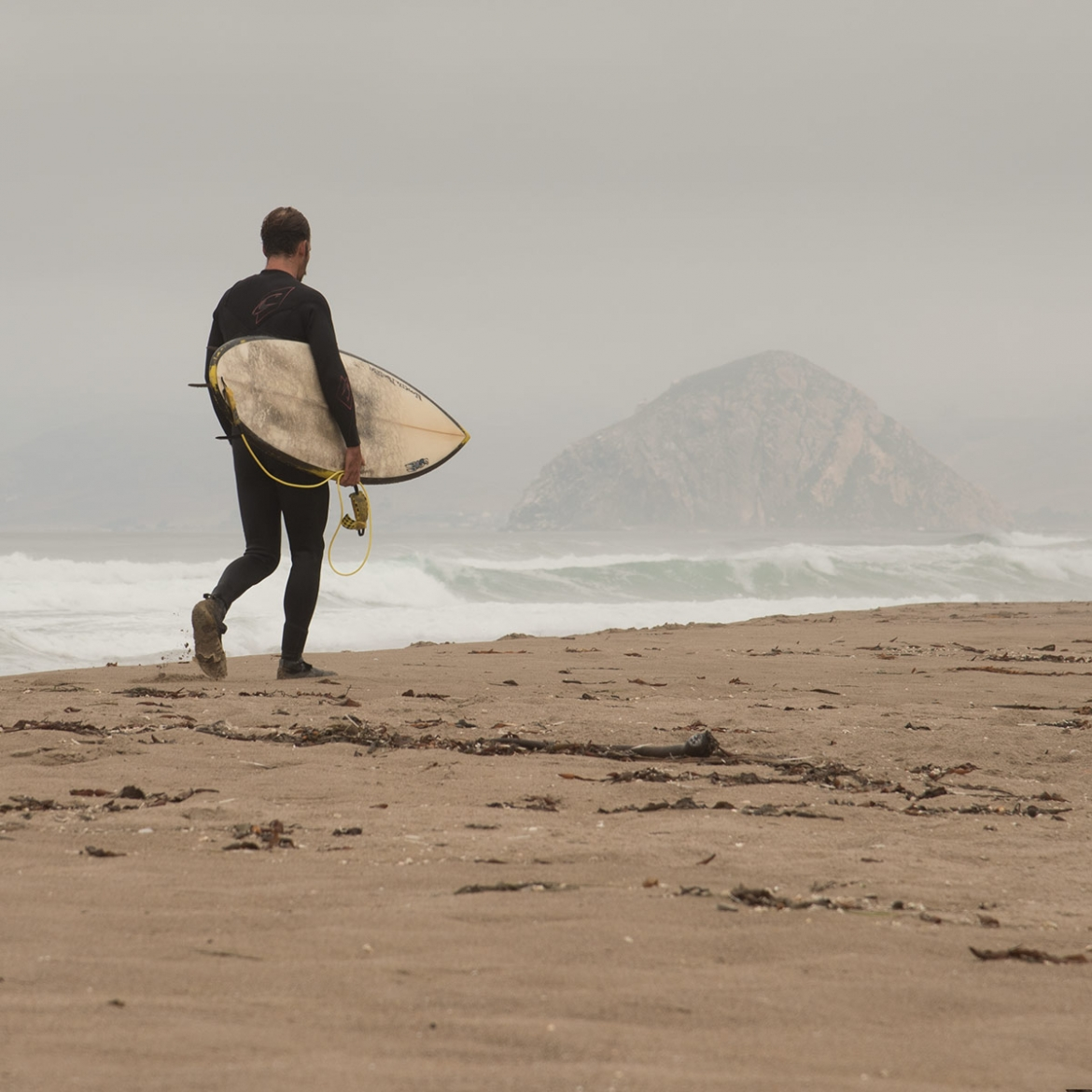 Surfer and Morro Rock